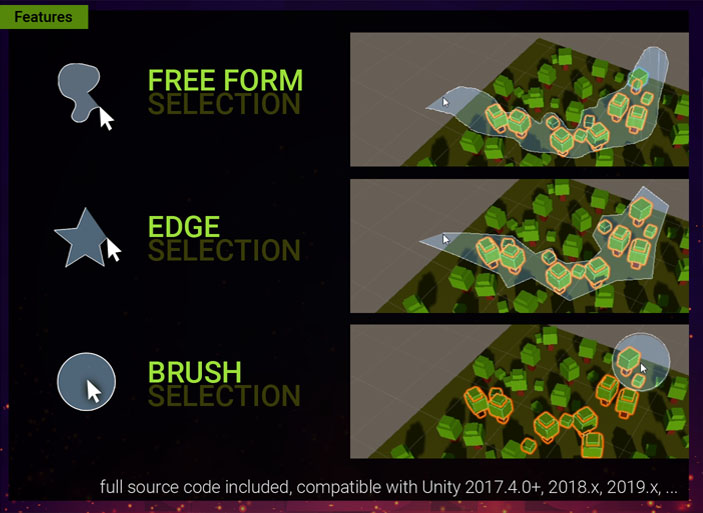 Free Form Selection for Unity Screenshot